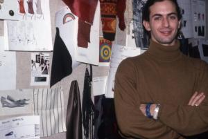 Marc Jacobs in his design studio, Garment Center,  New York - 1989